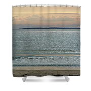 Shimmering Sunlight Upon The Sea Shower Curtain