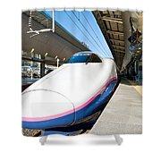 Shinkansen At Tokyo Station Shower Curtain