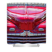Shiny Red Ford Convertible. Shower Curtain