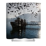 Ship In Backlight Shower Curtain