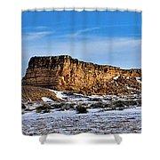 Ship Rock In Kansas Shower Curtain
