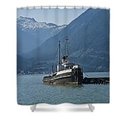 Shipping Freighter In Squamish British Columbia No.0187 Shower Curtain