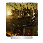 Shipwreck Of The Mary Rose, Portsmouth Shower Curtain