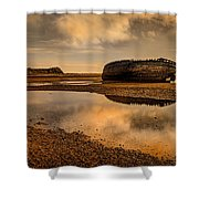 Shipwrecked Boat Shower Curtain