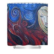 Shiva Rea's Sacred Fire Shower Curtain