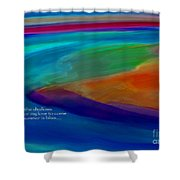 Shoal Haiku Shower Curtain