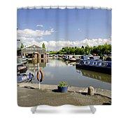 Shobnall Marina - Burton On Trent Shower Curtain