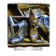 Shoe - Vintage Ladies Boots Shower Curtain