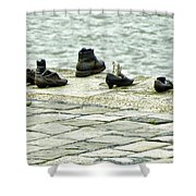 Shoes On The Danube Bank - Budapest Shower Curtain