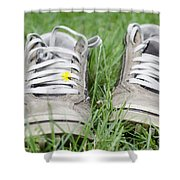 Shoes On The Green Grass Shower Curtain