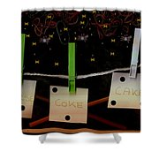 Shoppinglist Popart Shower Curtain