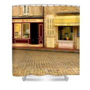 Shops In Beaune France Shower Curtain