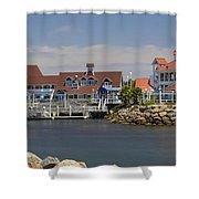 Shoreline Village Shower Curtain
