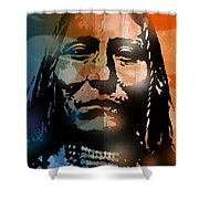 Shoshone Brave Shower Curtain