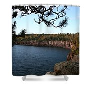 Shovel Point From Crystal Creek Overlook Shower Curtain