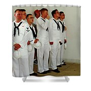Showing Respect Shower Curtain