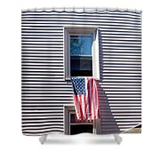 Showing The Flag Shower Curtain