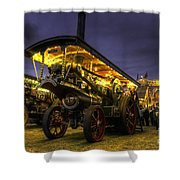 Showmans Engine By Night  Shower Curtain