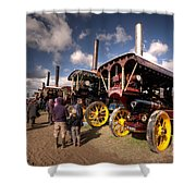 Showmans Engines At Dorset  Shower Curtain