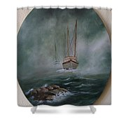 Shrimp Boats Coming Shower Curtain