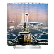Shrimping  Shower Curtain