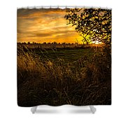 Shropshire Fields In Late Summer Shower Curtain