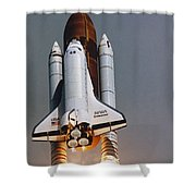 Shuttle Lift-off Shower Curtain by Science Source