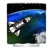 Shuttle On Orbit Shower Curtain