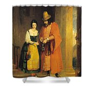 Shylock And Jessica From 'the Merchant Of Venice' Shower Curtain