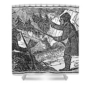 Siberia: Weasel Hunting Shower Curtain