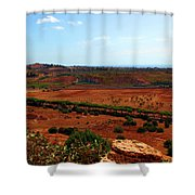 Sicilian Landscape Shower Curtain