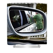 Side View Mirror Shower Curtain