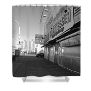 Sidewalks Of Gum In Black And White Shower Curtain
