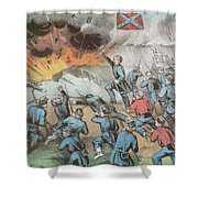 Siege And Capture Of Vicksburg, 1863 Shower Curtain by Photo Researchers