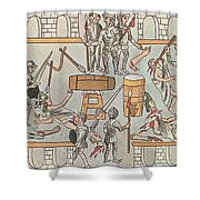 Siege Of Tenochtitlan, 1521 Shower Curtain