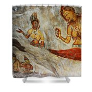 Sigiriya Fresco. Sri Lanka Shower Curtain