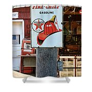 Sign - Fire Chief Gasoline Shower Curtain
