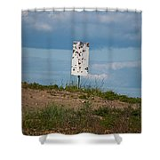 Sign At The Gulf Of Bothnia Shower Curtain