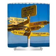 Sign Post In Sterling Point Bluff Shower Curtain