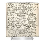 Signatures Attached To The American Declaration Of Independence Of 1776 Shower Curtain
