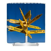 Signpost In Sterling Point Bluff Shower Curtain