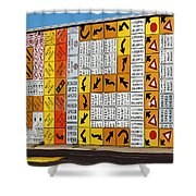 Signs And More Signs Shower Curtain