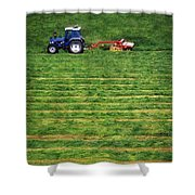 Silage Making, Ireland Shower Curtain