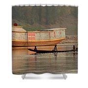 Silence On The Mekong Shower Curtain