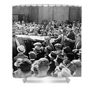 Silent Film: Crowds Shower Curtain