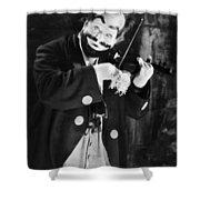 Silent Film Still: Clown Shower Curtain