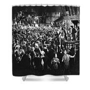 Silent Film Still: Crowds Shower Curtain