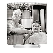 Silent Film Still: Doctor Shower Curtain
