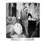 Silent Film Still: Iceman Shower Curtain by Granger
