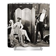 Silent Film Still: Legs Shower Curtain